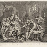 A Rake's Progress (plate 7) 1735 by William Hogarth 1697-1764